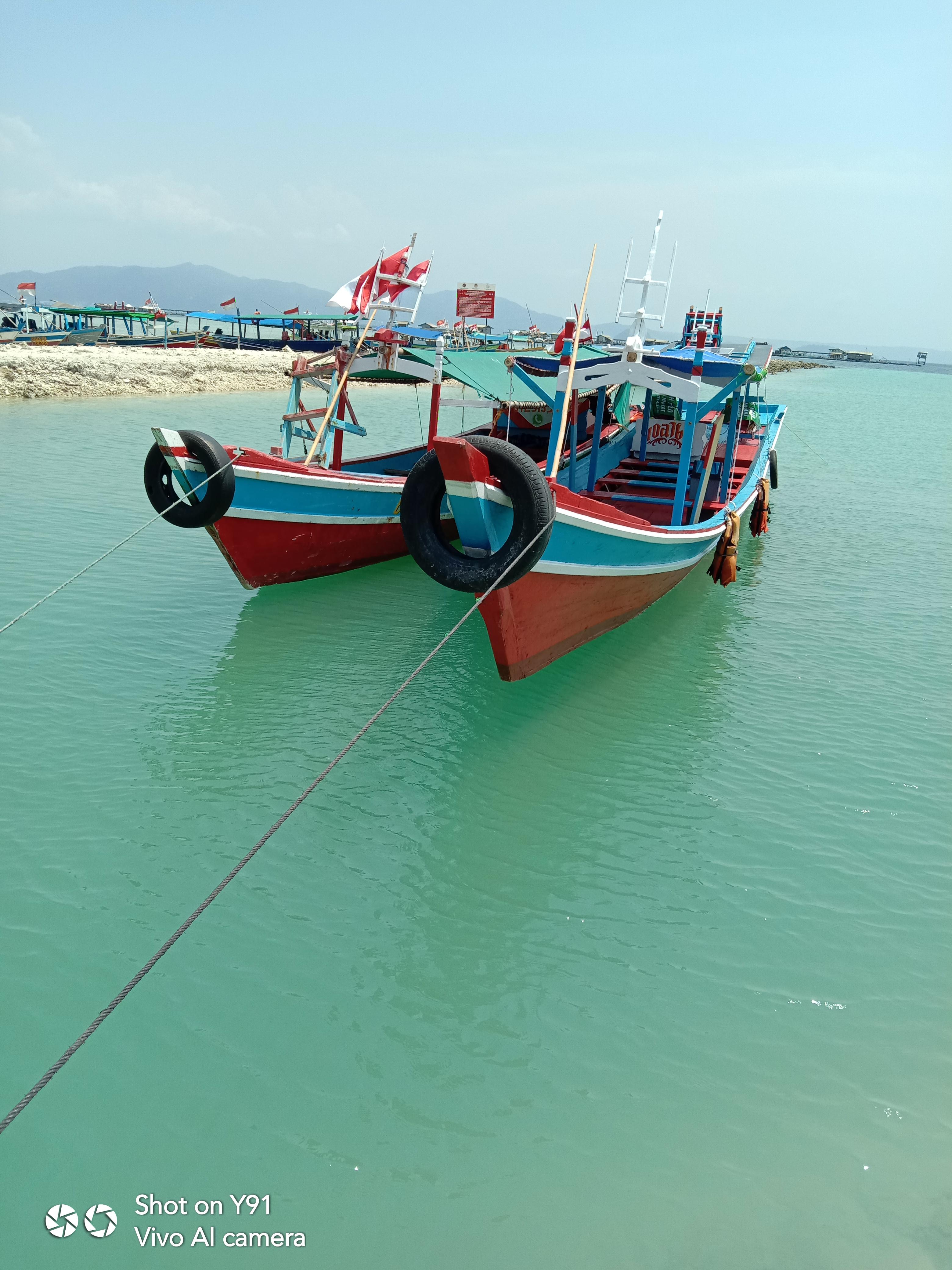 Paket Wisata Kapal doa ibu trip Pantai Sari Ringgung - Pulau Tegal Mas